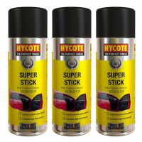 3 x HYCOTE SUPER STICK ADHESIVE SPRAY UNDERLAY CARPET TILE GLUE FLOORING 400ml